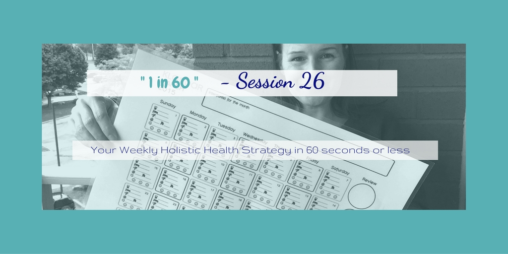 1 in 60 Session 26 : The First Step is Awareness