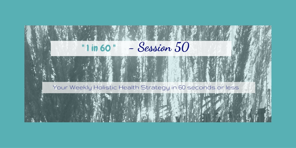 1 in 60 Session 50 : Decreasing Stress with Meal Planning